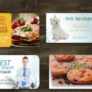 Business Cards w/UV Coating - Rounded Corners