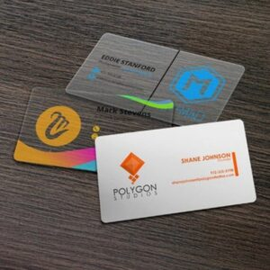Plastic Business Cards - White