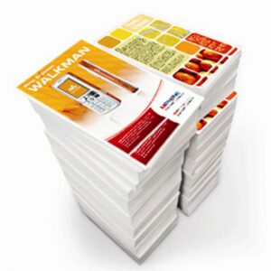 Image of a stack of color copies.